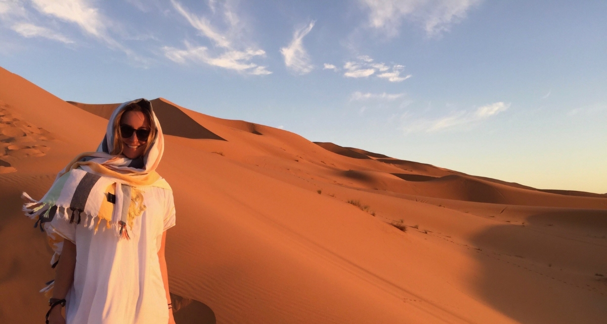Paige in Moroccan Sahara Desert